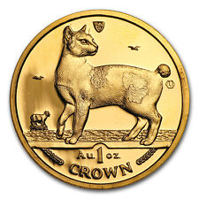 1994 Isle of Man 1 oz Gold Japanese Bobtail Cat BU