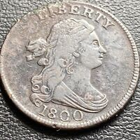 1800 Draped Bust Half Cent 1/2 Cent High Grade  #29032