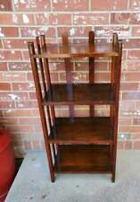 "Antique Arts & Crafts Mission Oak Shelf 4 Tier 35.5""x16.5""x9.5"""