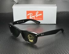 RAY BAN RB2132 901 New Wayfarer Black Crystal Green 52 mm Unisex Sunglasses