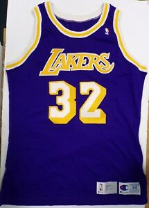 Magic Johnson Game Worn Los Angeles Lakers Jersey 1991 Size 44 +3 Length w/COA