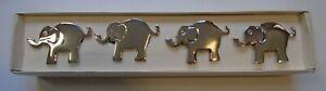 Set of 4 Silver Metal Elephant Napkin Rings Pier 1 Imports In Orignal Box