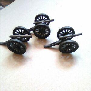 Vintage Civil War Toy Soldier canons guns