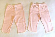 New Tingo 100% Organic Cotton Baby Girls Set of 2 Pants 24-36 Months Light Pink