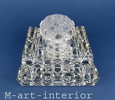 Antik Baccarat Tintenfass Kristall Schiff Ablage Victorian Cut Crystal Inkwell