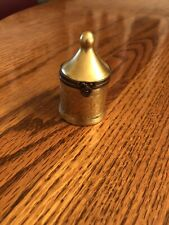 Peint Main Limoges Trinket Tall Pot Shaped Box Gold