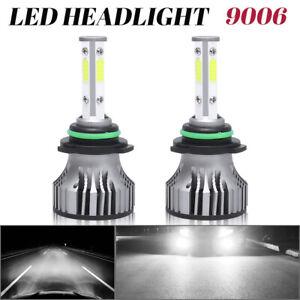 4-Side 9006 HB4 LED Headlight Bulbs Kit Low Beam 6000K 36000LM White Conversion