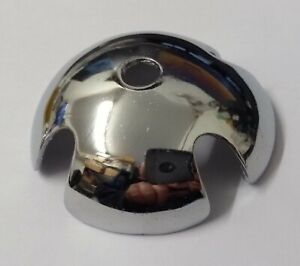 """Genuine Military Issue Pith Headwear Chrome Top 2"""" Dome Made in England STD186"""