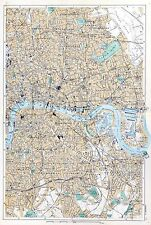 LONDON, 1901  - (North-East, The City, South-East),  Original Antique Map, Bacon