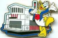 Disney Pin 45682 WDW Magical World of Transportation Pursuit Ferry Donald LE