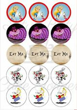 Edible Cupcake Toppers Alice in Wonderland PRE CUT - Highest Australian Quality
