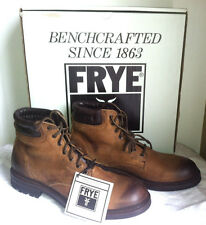 "Frye Fremont Lace Up Boots full grain leather padded collar Rubber 6"" shaft NIB"