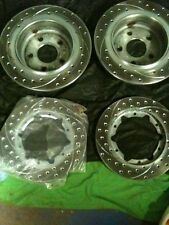 Wilwood Vented & Slotted Chevy Brake Rotor Kit With Hats And E-brake Assembly