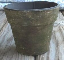 "Classic Planter Flower Pot 4 3/4"" tall Brown with Green Moss Texture, New"