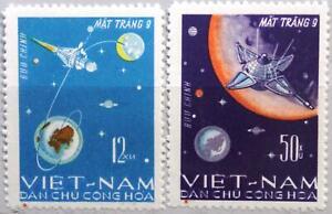 VIETNAM 1966 448-49 Mondlandung Luna 9 Moon Landing Space Raumfahrt MNH