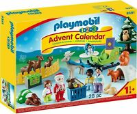 Playmobil 9391 1.2.3 Advent Calendar Christmas Is The Forest With Reindeer BNIB