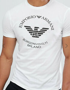 Emporio Armani Borgonuovo,11 White Mens T-Shirt,Slim fit Size M*L*XL New