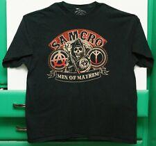 Vintage Sons Of Anarchy Samcro Men Of Mayhem T-Shirt Shirt Black 100% Cotton 2XL