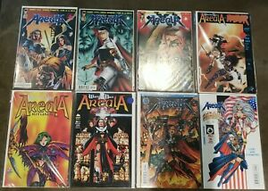 Warrior Nun Areala, Rituals, Razor, Portraits,  Glory lot of 8 different, Manga