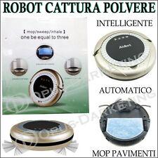 ASPIRAPOLVERE ROBOT CATTURA POLVERE AUTOMATICO INTELLIGENTE RICARICABILE MOP
