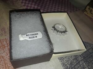 Sterling Silver 925 Women's CZ Wedding Ring Size 8