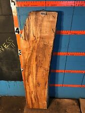 """#9806   3"""" THICK KILN DRIED  spalted Maple Live Edge Slab lumber wood"""