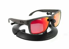 OAKLEY HOLBROOK WOODGRAIN FRAME / REVANT MIDNIGHT SUN RUBY RED POLARIZED CUSTOM