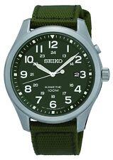 Seiko Kinetic Esfera Verde Militar 100M SKA725P1 RRP £ 199.00