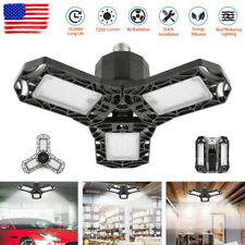 Deformable LED Garage Light Super Bright Shop Ceiling Lights Bulb 7200LM 6500K