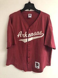Vintage Arkansas Razorbacks Baseball Jersey Size XL See Description