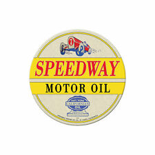 Speedway Motor Oil California Tankstelle Motoröl Retro Sign Blechschild Schild