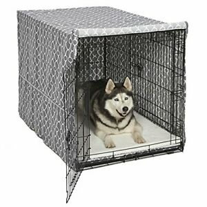 """Extra Large Giant Breed Dog Crate Kennel XL Pet Wire Cage Huge Folding Cover 48"""""""