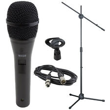 Dynamic Cardioid Microphone handheld vocal with stand cable & clip