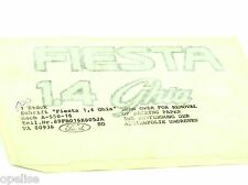 Genuine New FORD FIESTA 1.4 GHIA BOOT DECAL Rear Emblem Sticker 1989-1997 Mk3