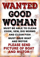 More details for wanted good woman metal wall sign pub,bar shed garage cafe shop kitchen man cave