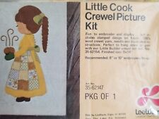 """Lee Wards """"Little Cook"""" Crewel Embroidery Kit Size 9"""" x 14"""""""