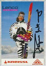 Tatjana mittermayer ski alpin freestyle autografiada mapa original firmado 380158