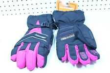 Katahdin Womens Ladies Black/Pink Snowmobile Cold Weather Gloves Size XL