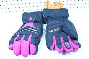 Katahdin Womens Ladies Black/Pink Snowmobile Cold Weather Gloves Size XL
