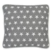 Grey Stars Kissenhülle Bezug 40x40 Grau WEiß Sterne Landhaus Clayre&Eef