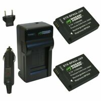 Wasabi Power Battery (2-Pack) and Charger for Samsung BP85A, EA-BP85A