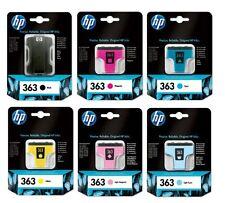 Genuine Full Set of HP 363 Ink Cartridges Photosmart Black Cyan Magenta Yellow L