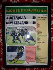 More details for australia 20 new zealand 20 - 2009 rugby league four nations - framed print