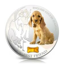"Fiji 2013 2$ ""Dogs & Cats"" My Best Friend English Cocker Spaniel 1Oz Silver Coin"