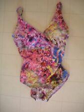 """GOTTEX """"Blue"""" Multicolor Fauna 1 Piece Surplice Style Swimsuit Sz 12 NWT"""