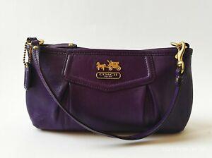 Leather Coach bag. Original. Purple color.