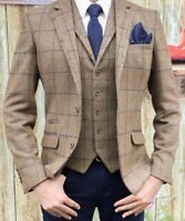 Cavani Sergio Carreaux Marron Veste Tweed ou Gilet - L'Excellent Gatsby Style
