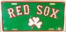 Boston Red Sox Irish Shamrock embossed license plate New Aluminum auto tags 1048