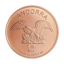 Andorra Eagle 2014 1 OZ Kupfer Copper Unze Ounce Once Kupfermünze
