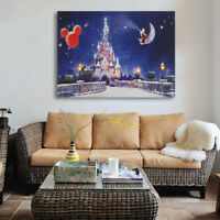 30x40cm LED Light Up Christmas Canvas Pictures X'mas Picture Decor Wall Hanging